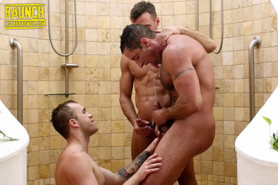 Jackson Radiz, Manuel Skye, Nick Capra | Threeway Water Sports - Gay Movies - Lucas Entertainment