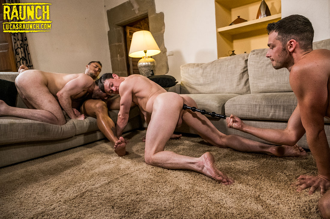 Ben Batemen, Damon Heart, Ruslan Angelo, Brock Magnus | Extreme Dildo Play - Gay Movies - Lucas Entertainment