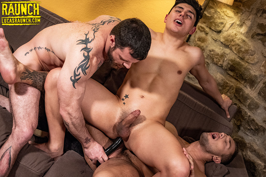 Brock Magnus, Sergeant Miles, Ken Summers | Raw Dildo Action - Gay Movies - Lucas Entertainment