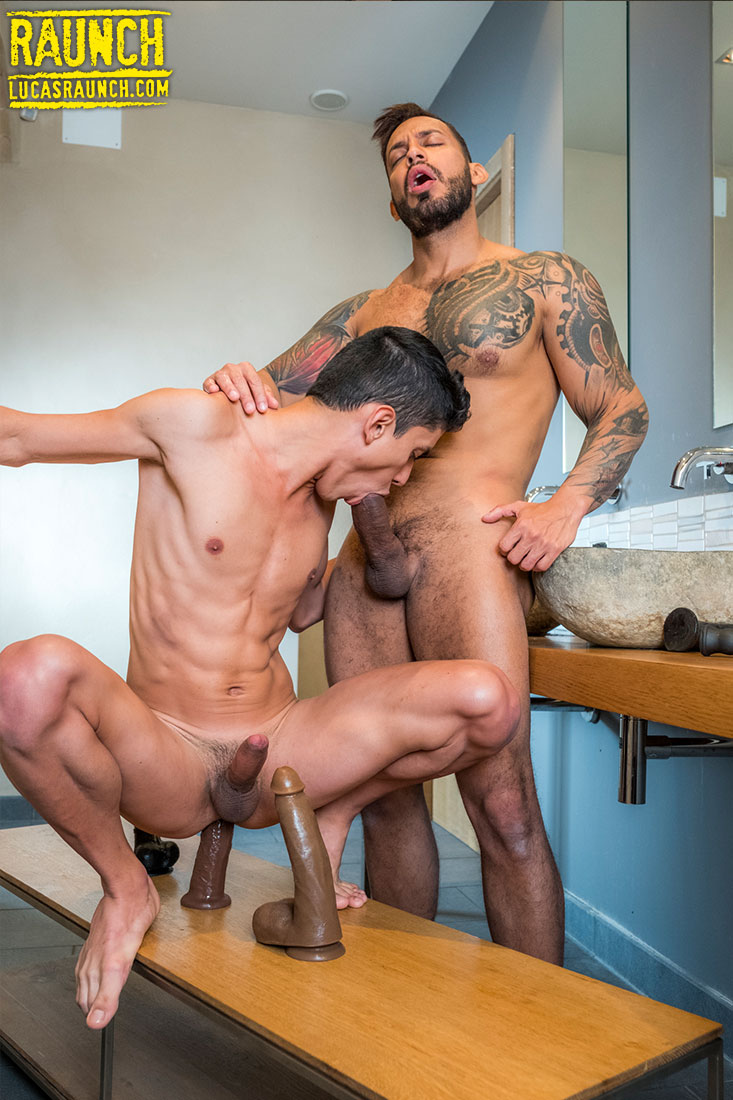Alpha Top Viktor Rom Invades Joaquin Santana With Dildos - Gay Movies - Lucas Entertainment