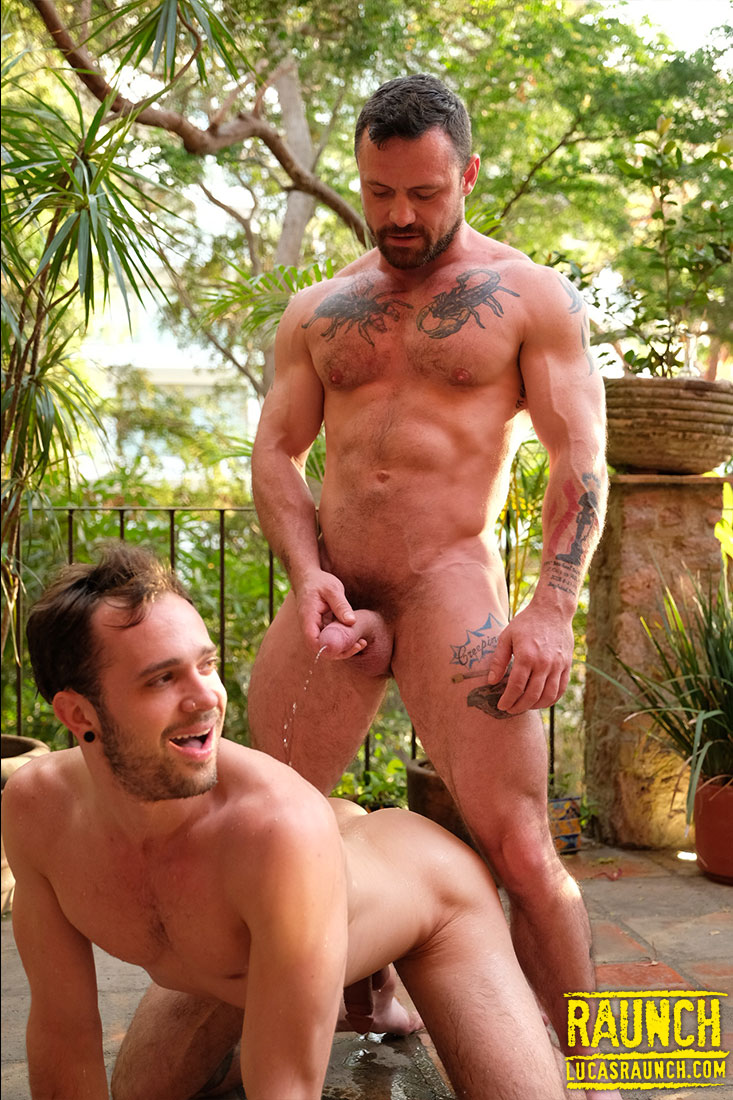 Sergeant Miles Pisses On Drake Rogers - Gay Movies - Lucas Entertainment