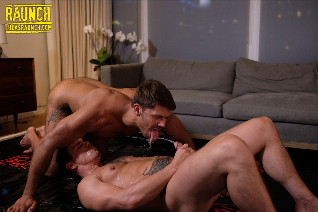 Tyler Roberts And Jesse Santana Let Their Piss Loose - Gay Movies - Lucas Entertainment
