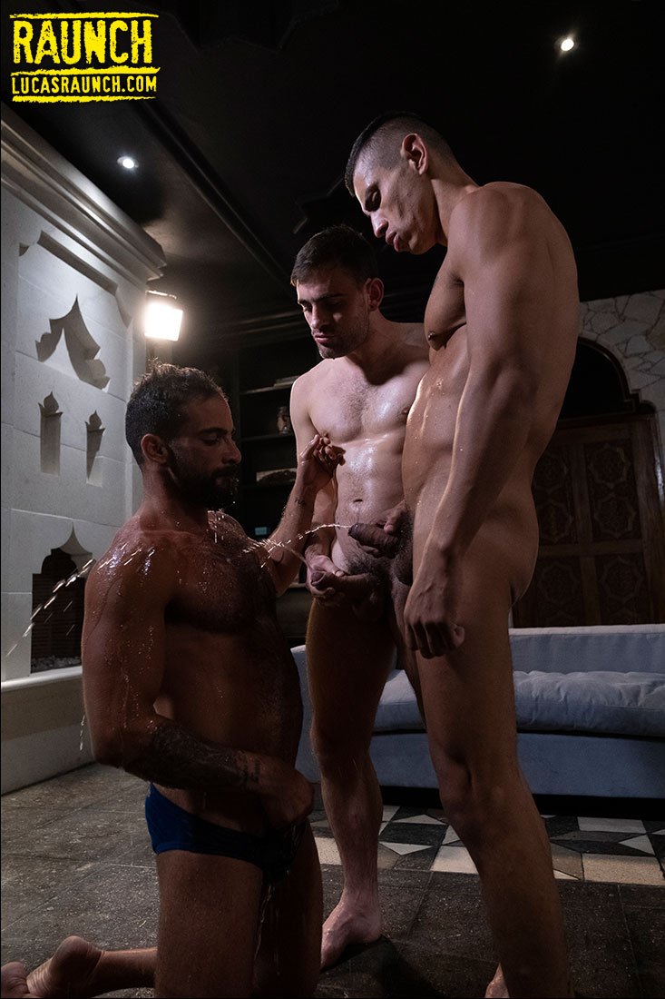 Max Arion, Max Avila, Edji Da Silva | Showered In Piss - Gay Movies - Lucas Entertainment