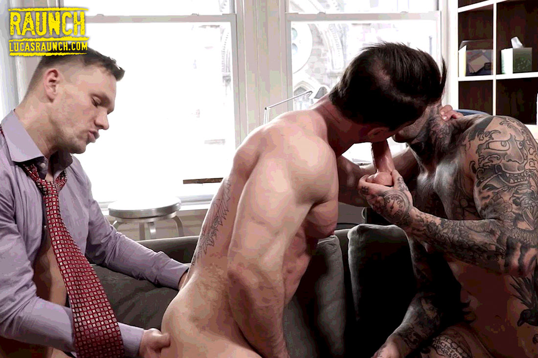 Andrey Vic And Dylan James Use A Dildo On Alexander Volkov - Gay Movies - Lucas Entertainment