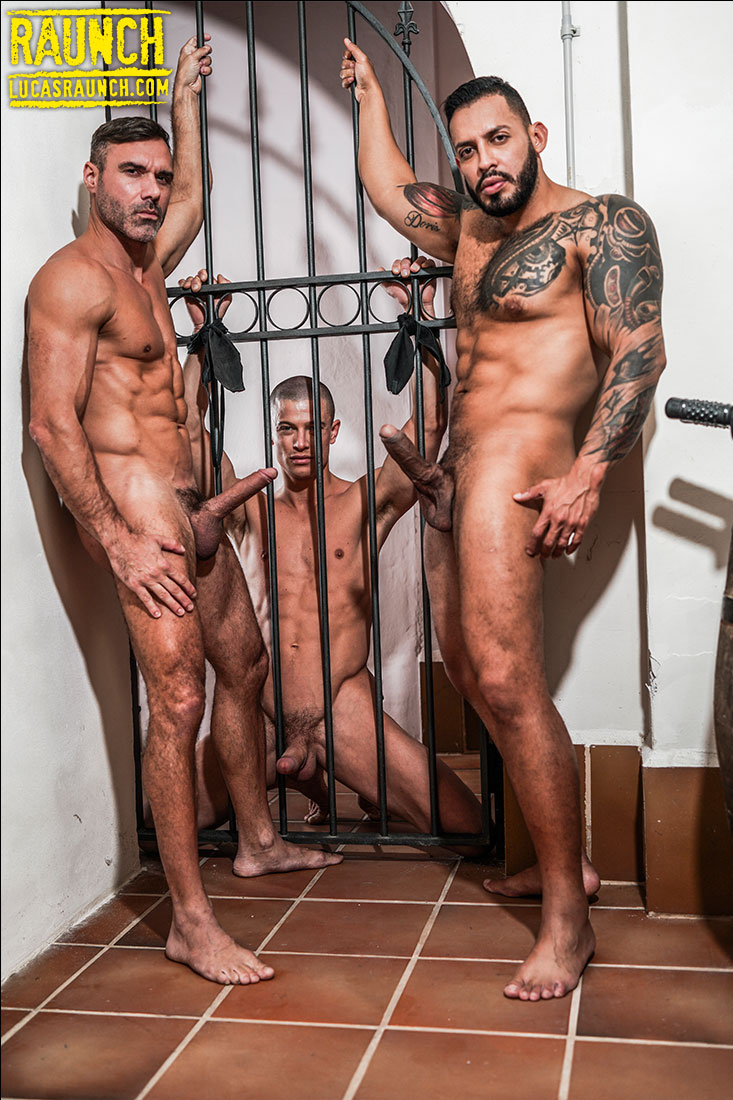 Viktor Rom And Manuel Skye Gag, Bind, And Drill Ruslan Angelo With Uncut Cock And Dildos - Gay Movies - Lucas Entertainment