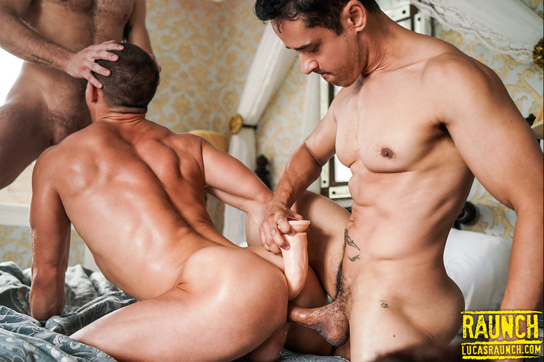Rafael Alencar And Gabriel Phoenix Double-Fuck Ruslan Angelo - Gay Movies - Lucas Entertainment