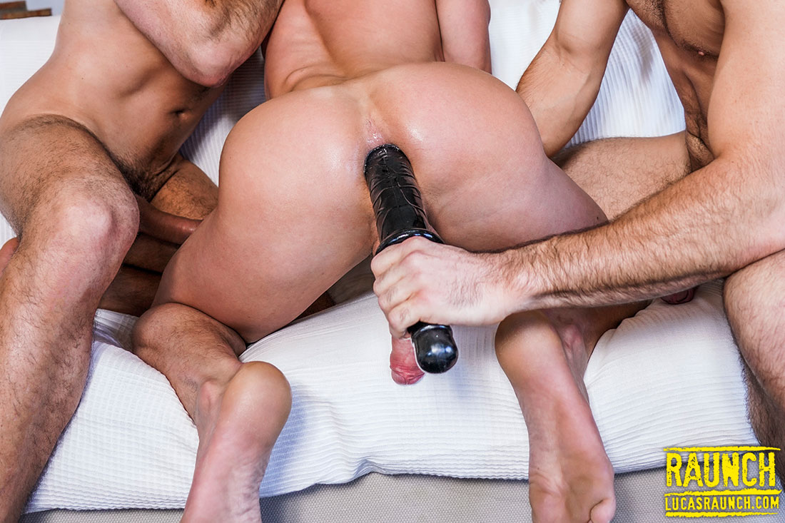 Michael Lucas And Max Arion Double-Penetrate Ruslan Angelo With Dick And Toys - Gay Movies - Lucas Entertainment