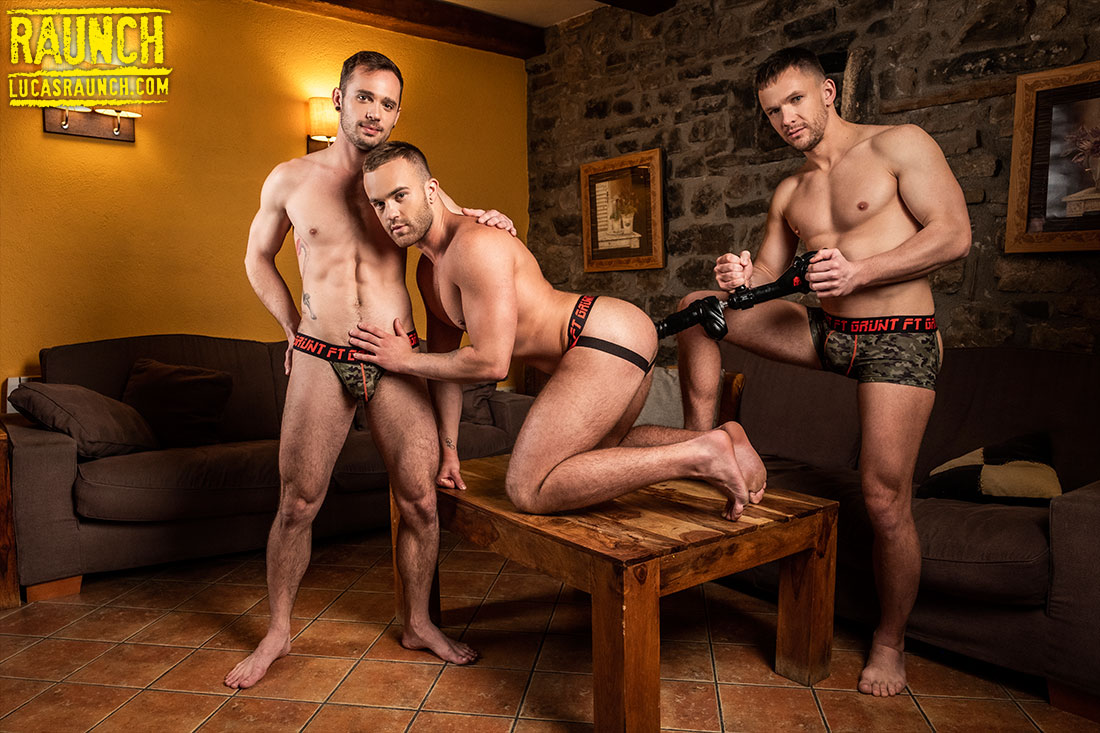Andrey Vic, Drake Rogers, Jackson Radiz, And High-Powered Sex Toys - Gay Movies - Lucas Entertainment