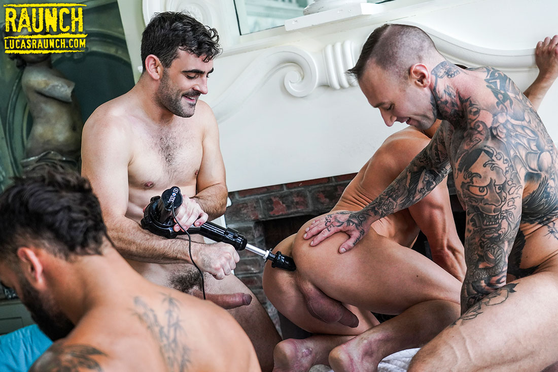 Six-Man, Fuck-Machine Orgy Action - Gay Movies - Lucas Entertainment