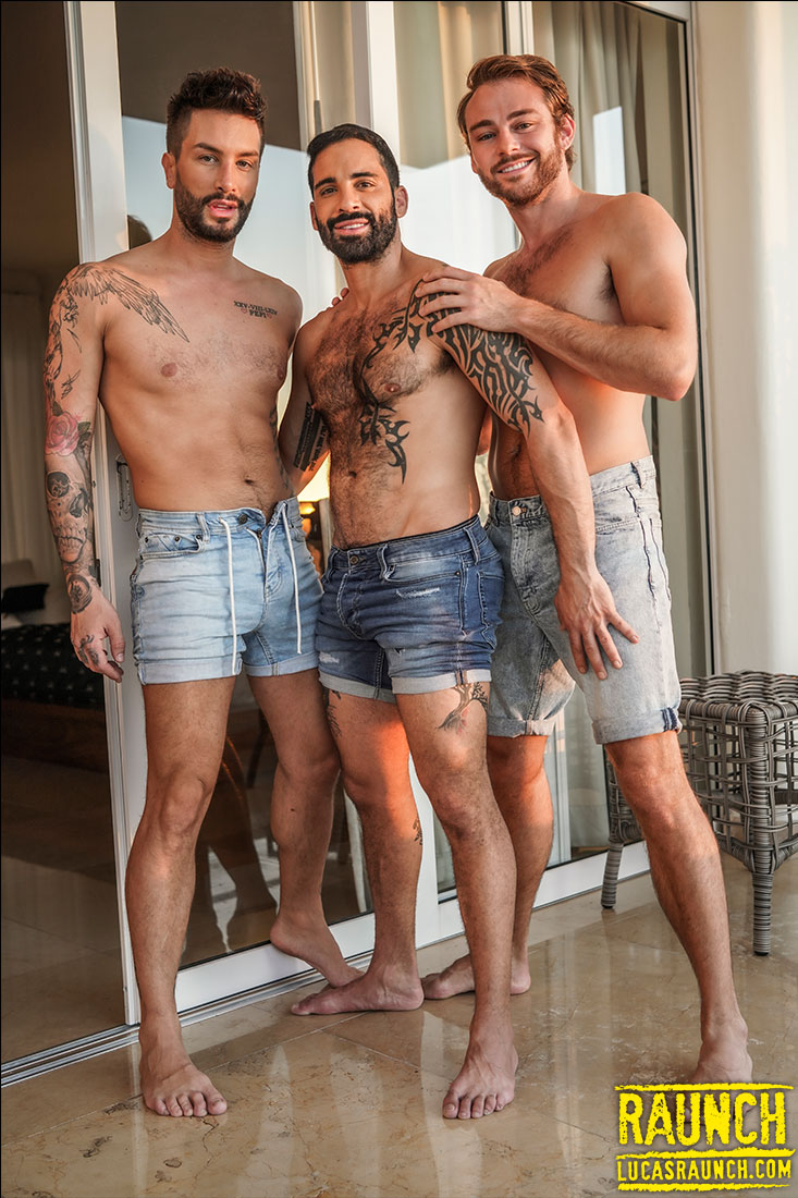 Edji Da Silva And Max Adonis Double Penetrate Andrea Suarez - Gay Movies - Lucas Entertainment