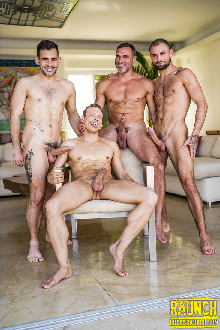 Double Penetration Four-Way | Max, Jeffrey, Manuel, Ethan - Gay Movies - Lucas Entertainment