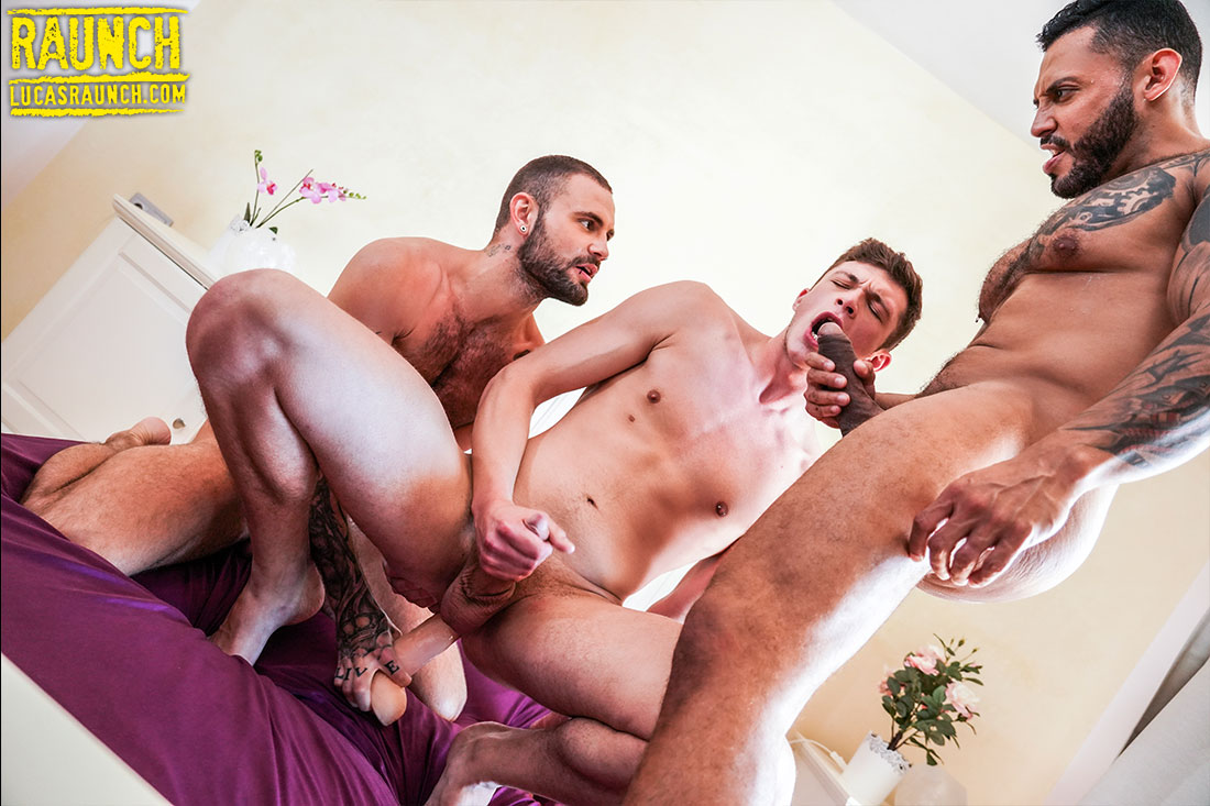 Braxton Boyd, Viktor Rom, Jeffrey Lloyd, Randy Junior | Raw Toy Fucking - Gay Movies - Lucas Entertainment