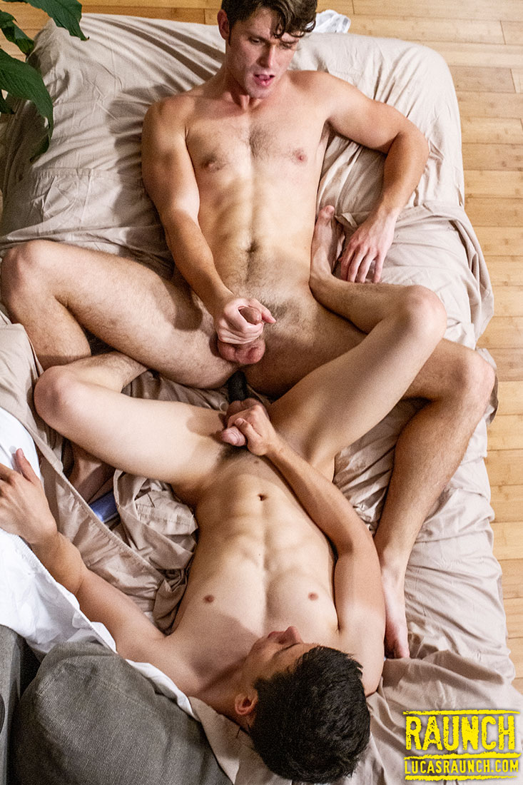 Devin Franco And Ricky Verez Share A Double Headed Dildo - Gay Movies - Lucas Entertainment
