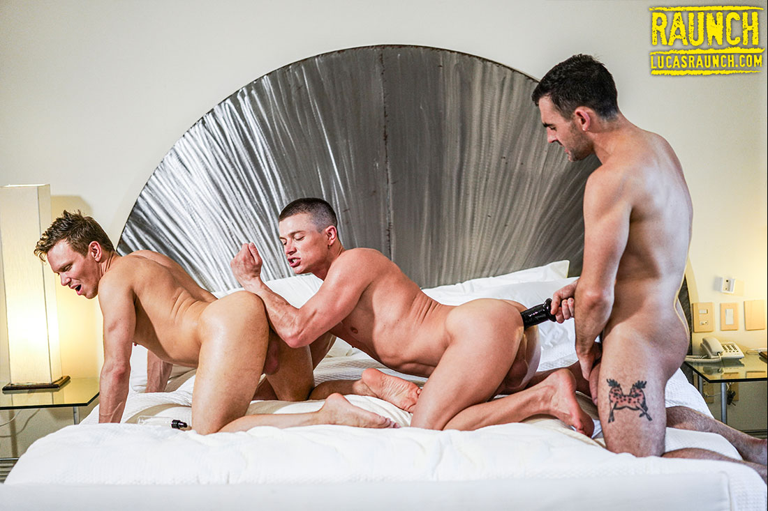 Max Arion Rear Ends Ruslan Angelo And Ethan Chase With Sex Toys - Gay Movies - Lucas Entertainment