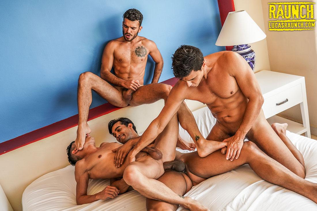 Foot Worship And Double Penetration Starring Joaquin Santana - Gay Movies - Lucas Entertainment