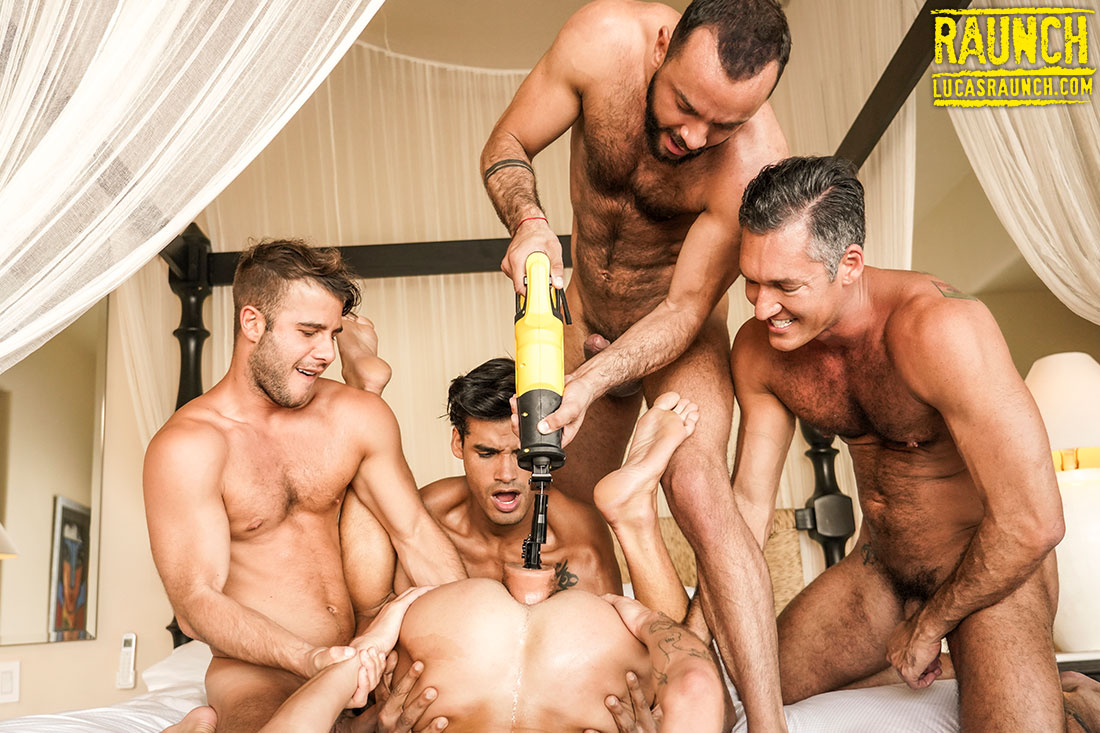 Allen King, Valentin Amour, And Hardcore Ass-Drilling Toys - Gay Movies - Lucas Entertainment