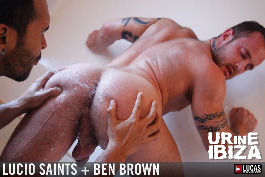 Raunch Top Lucio Saints Fucks and Drowns Ben Brown in Piss - Gay Movies - Lucas Entertainment
