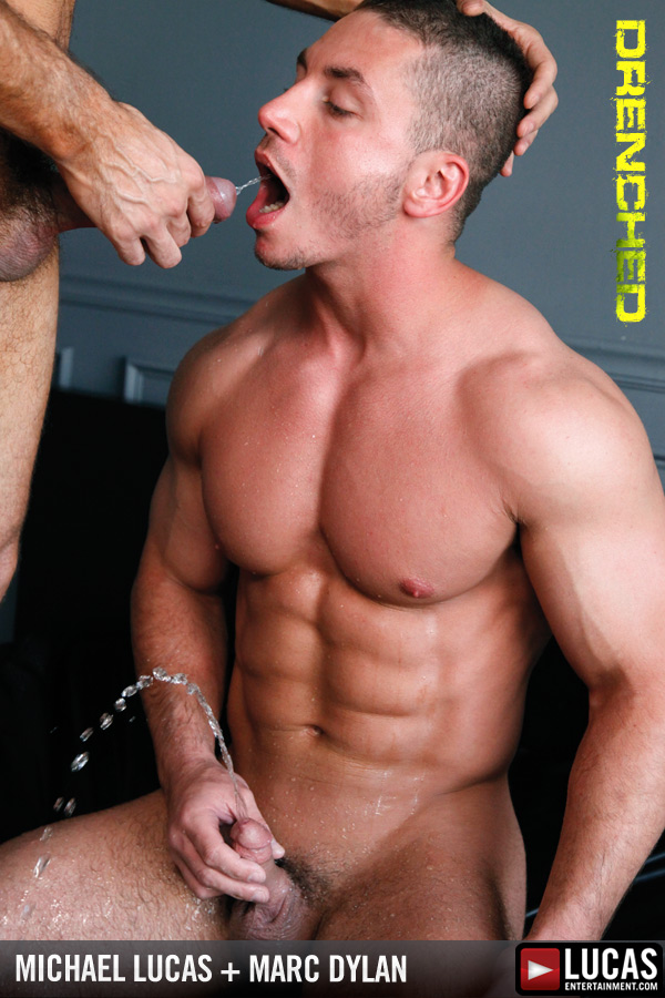 Michael Lucas Humiliates Beefcake Marc Dylan with Waves of Piss - Gay Movies - Lucas Entertainment