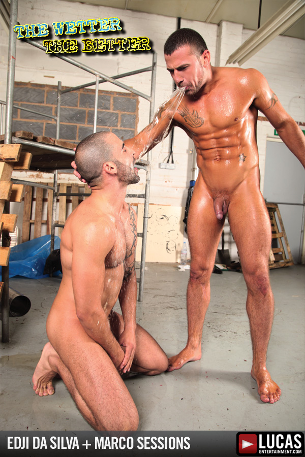 Edji Da Silva and Marco Sessions Fuck in Piss - Gay Movies - Lucas Entertainment