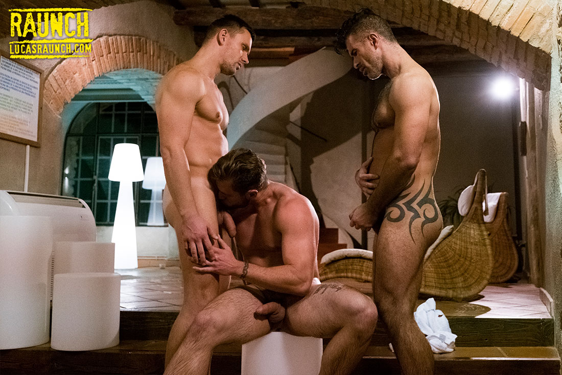 Ace Era, Andrey Vic, Adam Killian | Hosed Down In Piss - Gay Movies - Lucas Entertainment