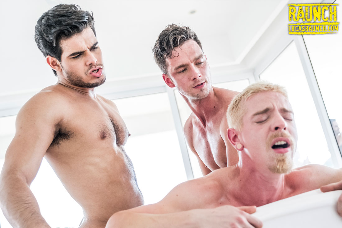 Rico Marlon, Damon Heart, Cody Winter | Gigantic Dildo Play - Gay Movies - Lucas Entertainment