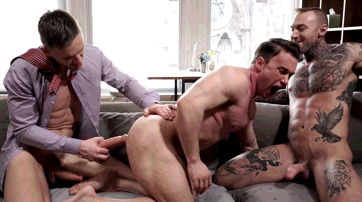 Andrey Vic And Dylan James Use A Dildo On Alexander Volkov